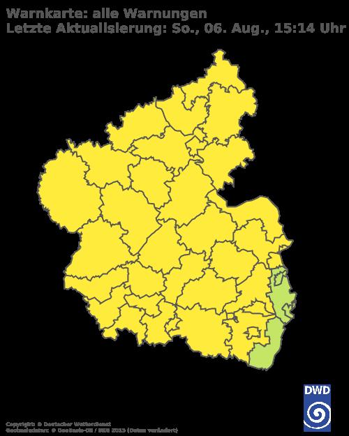 Aktuelle Wetterwarnungen für Altenkirchen